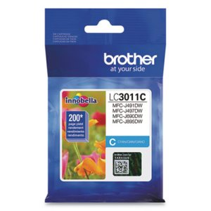 Brother LC3011C Ink, 200 Page-Yield, Cyan, 1 Each (BRTLC3011C)