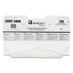 Hospeco Evogen Toilet Seat Covers, White, 3000 Seat Covers (HOSEVNT3000)