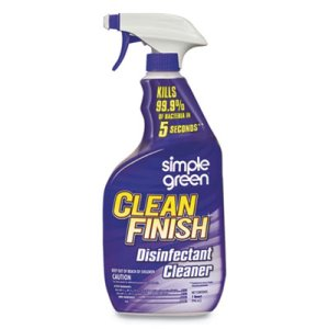 Simple Green Clean Finish Disinfectant Cleaner, 32 oz, 12 Bottles (SMP01032)