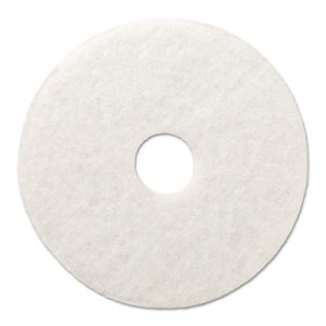 "Boardwalk White 18"" Floor Polishing Pads, 5 Pads (BWK4018WHI)"