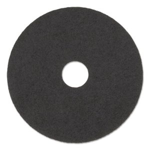 "Boardwalk Black 17"" Floor Stripping Pads, 5 Pads (BWK4017HIP)"