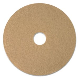 "Boardwalk Tan Burnishing Floor Pads, 24"" Diameter, 5/Carton (BWK4024ULT)"