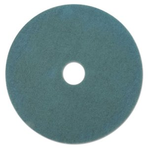 "Boardwalk 19"" Aqua Burnishing Pads, Ultra High-Speed Floor Pads (BWK4019AQU)"