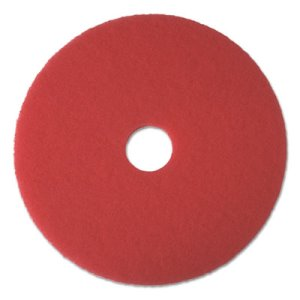 "Boardwalk Red 15"" Diameter Floor Buffing Pads, 5 Pads (BWK4015RED)"