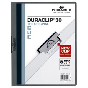 DuraClip Vinyl Report Cover, Letter, Holds 30 Pages, 25 Covers (DBL220357)