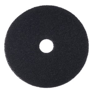 "Boardwalk Black 14"" Floor Stripping Pads, 5 Pads (BWK4014BLA)"