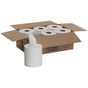 SofPull White Center-Pull Paper Towel Rolls, 6 Rolls (GPC28124)