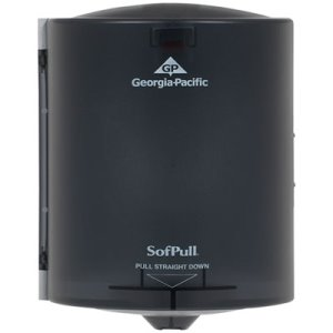 Sofpull Center Pull Hand Towel Dispenser, Smoke Gray (GPC58204)