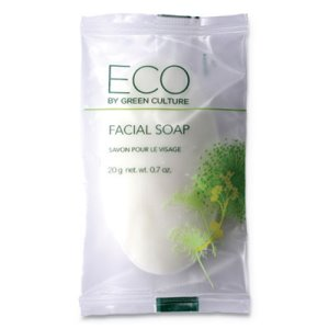 Eco By Green Culture Facial Soap Bar, Clean Scent, 500 Bars (OGFSPEGCFL)