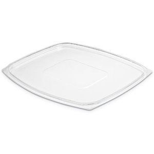 Dart ClearPac Clear Container Lids, 7.4w x 9l, Clear, 4/Carton (DCCC64DLR)