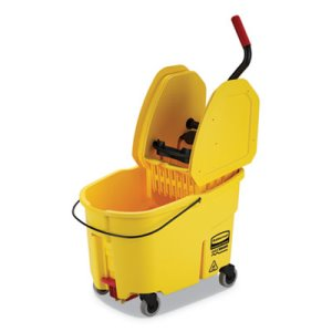 Rubbermaid Commercial WaveBrake 2.0 Bucket/Wringer Combos RCPFG757688YEL