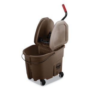 Rubbermaid WaveBrake 8.75 Gal Bucket/Down Press Wringer, Brown (RCPFG757788BRN)