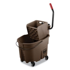 Rubbermaid WaveBrake 8.75 Gal Bucket/Side Press Wringer, Brown (RCPFG758088BRN)