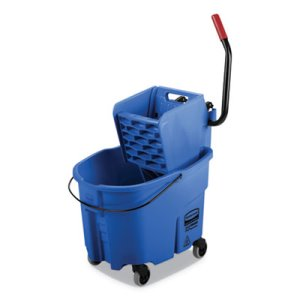 Rubbermaid WaveBrake 35 qt Bucket/Side Press Wringer, Blue (RCPFG758888BLUE)