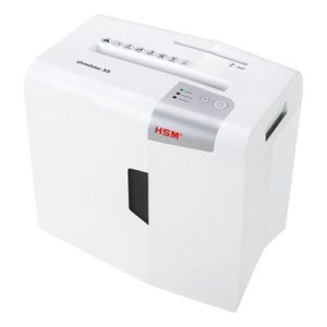 Hsm Of America Shredstar X5 Cross-Cut Shredder, 5 Sheet Max, White (HSM1043W)