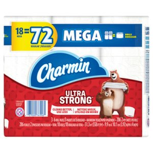 Charmin Ultra Strong Bathroom Tissue, 2-Ply, 264 Sheet/Roll, 18 Rolls (PGC61079)
