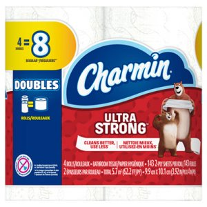 Charmin Ultra Strong Bathroom Tissue, 2-Ply, 143 Sheet/Roll, 48 Rolls (PGC77777)