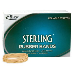 Alliance Sterling Ergonomically Correct Rubber Band, #19, 1700 Bands (ALL24195)