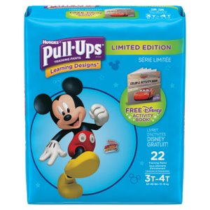 Huggies Pull-Ups Potty Training Pants for Boys, Size 3T-4T, 22/Pack (KCC45141)