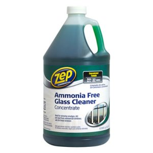 Zep Commercial Ammonia-Free Glass Cleaner, 1 gal, 4/Carton (ZPEZU1052128CT)