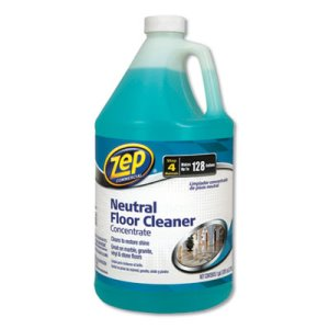 Zep Neutral Floor Cleaner, Fresh Scent, 1 gal, 4 Bottles (ZPEZUNEUT128CT)