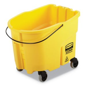 Rubbermaid WaveBrake 8.75 Gal Bucket, Plastic, Yellow (RCPFG757088YEL)