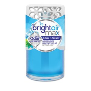 Bright Air Max Oil Air Freshener, Cool and Clean, 4 oz, 6 Fresheners (BRI900439)