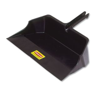 Rubbermaid Commercial Jumbo Heavy Duty Dustpan, Plastic, Black (RCP9B60BLAEA)