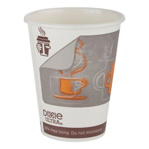 Georgia Pacific Dixie Insulair Paper Hot Cup, 12 oz, 1000 Cups (DXE6342AR)