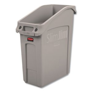 Rubbermaid Slim Jim Under-Counter Container, 13 Gal, Beige, Each (RCP2026698)
