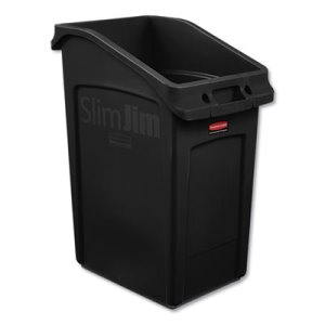 Rubbermaid Slim Jim Under-Counter Container, 23 Gal, Black, Each (RCP2026722)