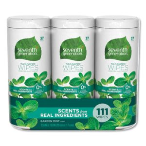 Seventh Generation Multi Purpose Wipes, Garden Mint, 444 Wipes (SEV44689CT)