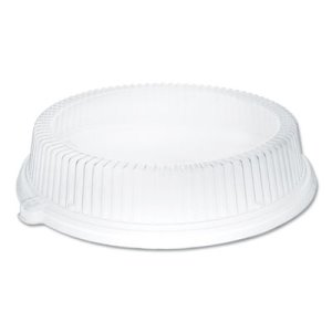 Dart Dome Round Covers and Lids, Clear Plastic, 500 Lids (DCCCL10P)