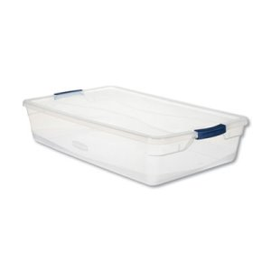 Rubbermaid Clever Store Basic Latch-Lid Container, 41 qt, Each (UNXRMCC410001)