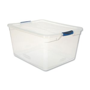 Rubbermaid Clever Store Basic Latch-Lid Container, 71 qt, Each (UNXRMCC710000)