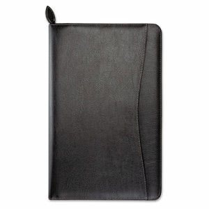 Day-Timer Leather Wirebound Organizer, 5-1/2 x 8-1/2, Black (DTM85467)