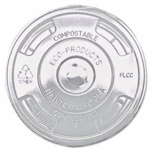 Eco Products Compostable Lids, 1,000 lids (ECP EP-FLCC)