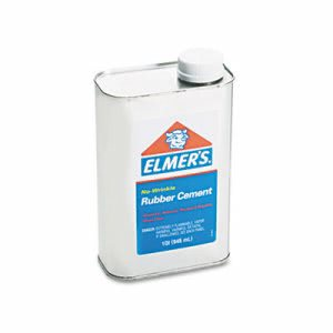 Elmer's Rubber Cement, Repositionable, 1 Quart Can, 1 Each (EPI233)