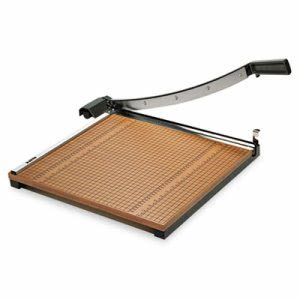 "X-acto Wood Base Guillotine Trimmer, 15 Sheets, Wood Base, 18""X18"" (EPI26618)"