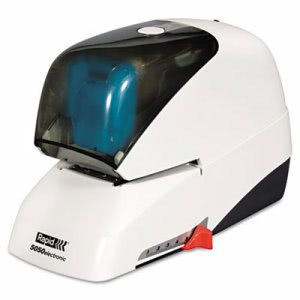 Rapid Heavy-Duty Flat Electric Stapler, 50-Sheet Capacity, White (RPD73157)