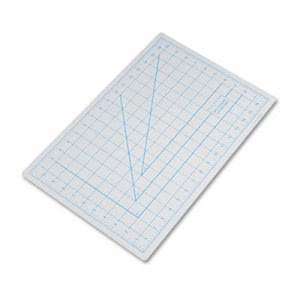 "X-acto Self-Healing Cutting Mat, Nonslip Bottom, 1"" Grid, Gray (EPIX7761)"