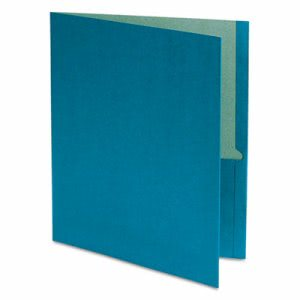 Earthwise 100% Recycled Paper Twin-Pocket Portfolio, Blue (OXF78502)