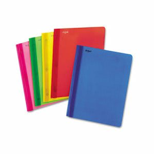 "Oxford Polypropylene Report Cover, Tang Clip, Letter, 1/2"" Capacity, Assorted, 25/Box (ESS99812)"