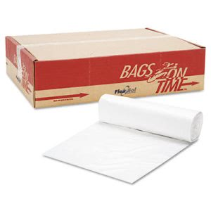 33 Gallon Clear Trash Bags, 33x40, 12mic, 500 Bags (ESXBR3340M)