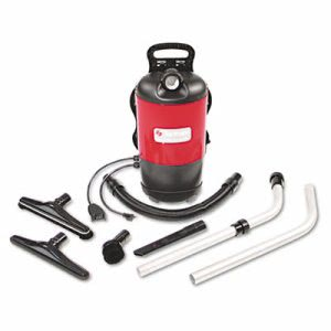 Sanitaire Commercial Backpack Vacuum, 11.5 lbs, Red (EURSC412B)