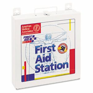 First Aid Only First Aid Station for 50 People, 196 Pieces, OSHA Compliant, Metal Case (FAO226U)