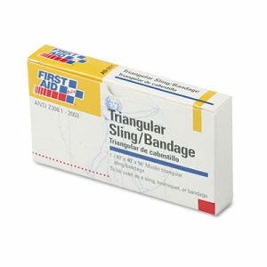 First Aid Only Refill Sling/Tourniquet Triangular Bandages, 40 x 40 x 56, 10/Pack (FAOAN5071)