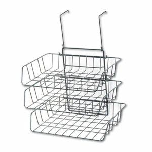 Fellowes Wire Partition Three-Tray Organizer, 13 1/2 x 11 7/8, Black (FEL75310)