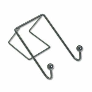 Fellowes Partition Additions Wire Double-Garment Hook, 4 x 6, Black (FEL75510)