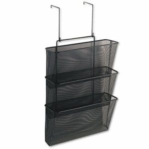 Fellowes Mesh Partition Additions 3-File Pocket Organizer, Black (FEL75901)